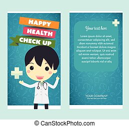 health check up brochurevector