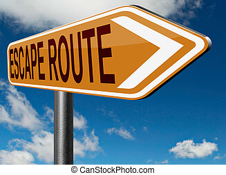escape route to safety - escape route avoid stress and break...