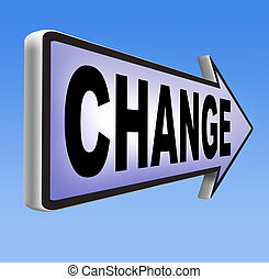 change ahead - changes ahead going different direction...