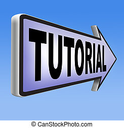tutorial learn online video lesson or class, website...