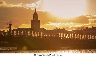 Palace Bridge sunset timelapse