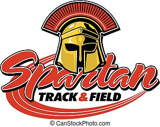 spartan track & field design with helmet