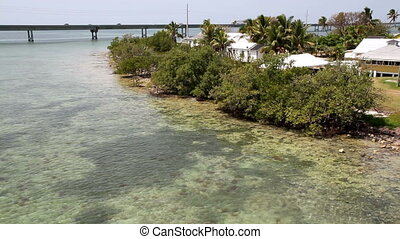 View from the old 7 mile bridge FL - Florida Keys view from...