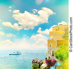 beautiful mediterranean landscape view of sea - Beautiful...
