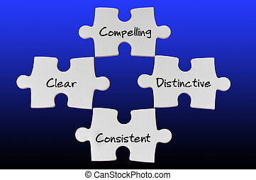 Leadership Concepts - Conceptual of vision on white puzzle