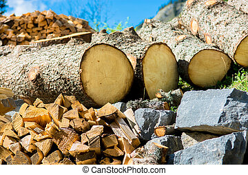 Natural Resources - Wood and Stone as Natural Resources