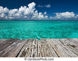 水, 綠松石, 清楚, 熱帶, 水晶, 海灘