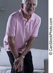 Pain in the knee joint - Pensioner with pain in the knee...