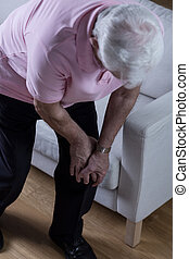 Joint disease - Elder man with joint disease