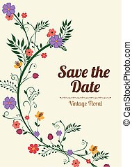 Save the date design. - Save the date design over beige...