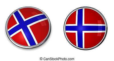 Banner Button Norway - button style banner in 3D of Norway
