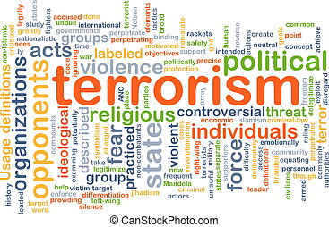 Terrorism background concept - Background concept wordcloud...