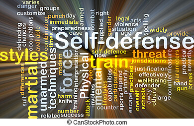 Self-defense background concept glowing - Background concept...