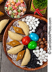 Nowruz Holiday in Azerbaijan - Colored eggs, wheat springs...