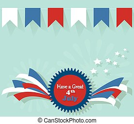 4th July - Independence day flat background. Have a great...
