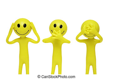 Smilies that speak, hear and see no evil