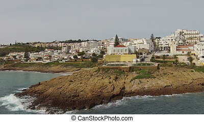 Aerial from Luz in Portugal - Aerial from the village Luz...