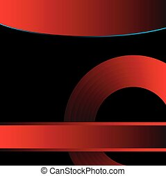 Black and red background vector for