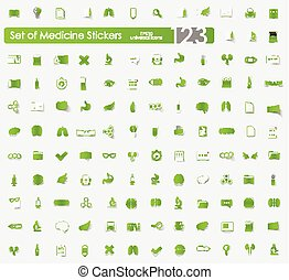Set of medical stickers