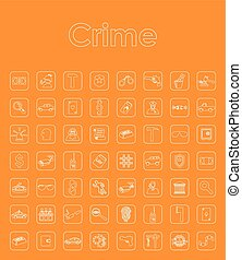 Set of crime simple icon