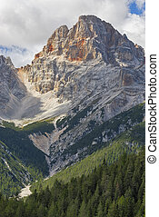 Croda Rossa, Dolomites - Colorful Croda Rossa summit in the...