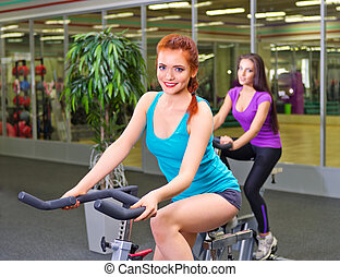 Girls in fitness club