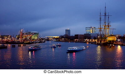 Harbor from Amsterdam Netherlands - The harbor from...