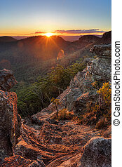 Sunset Rock Mt Victoria Blue Mountains - The last rays of...
