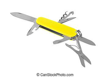 Knife multitool isolated on white background