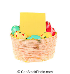 Basket of colorful Easter eggs
