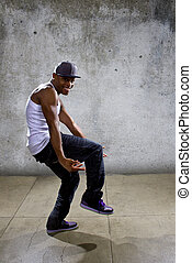 Hip Hop Dance Choreography - Muscular black man posing hip...