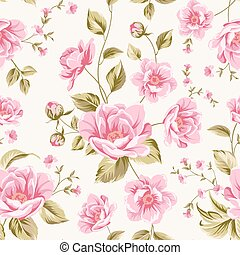 Luxurious peony pattern. - Luxurious color peony seamless...