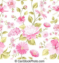 Floral wedding pattern for invitation card Vector...