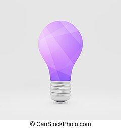 Lightbulb idea symbol. 3d vector illustration.