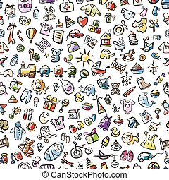 Baby seamless pattern for your design Vector illustration
