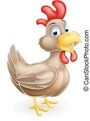Cartoon Brown Chicken