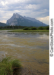 Mount Rundle and Vermilion Lakes Vertical - Mount Rundle and...