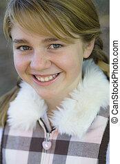 Tween Girl - Portrait of a Cute Tween Girl Outdoors