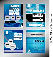 Design template blue vector set