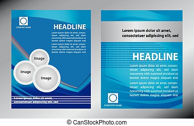 Vector brochure, flyer, magazine cover poster template