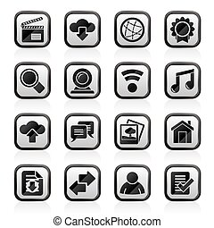 Internet and website icons