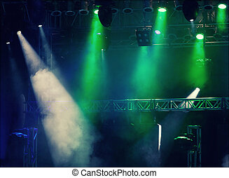 Stage lights - retro styled - bright colorful stage lights -...