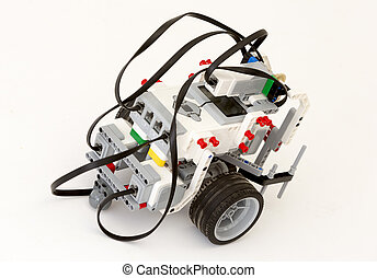 LEGO blocks robot - Sofia, Bulgaria - May 15, 2015: A robot...