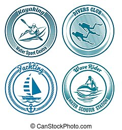 Water Sport Stamp set - Set of Water Sport stamps or seal...
