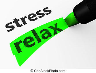 Relax Vs Stress Choice Concept - Healthy lifestyle and...