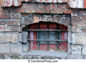 Medieval Grilled Window - Medieval grilled basement window...
