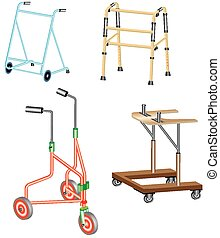 Walking frame Metal walker used to assist when walking for...