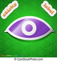 Eye, Publish content, sixth sense, intuition icon sign...