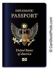 USA Diplomatic Passport - United States of America...