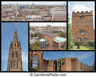 Coventry landmarks collage - Landmarks collage of the city...